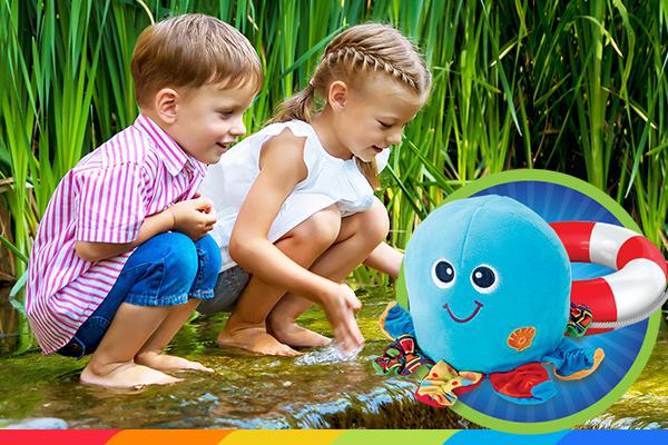 Bezpieczne wakacje z Wesołkiem – zabawa nad wodą